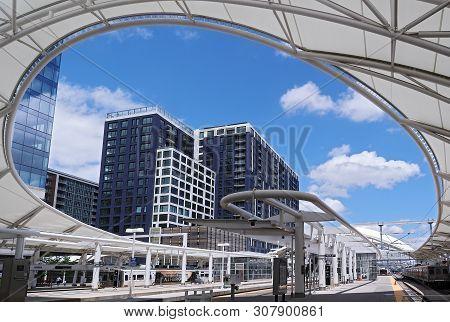 Denver Colorado - June 22, 2019: Renovated Union Station In Downtown Denver, Colorado.
