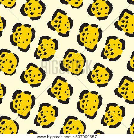 Jaguar Print. Seamless Big Cat Cowhide Texture.