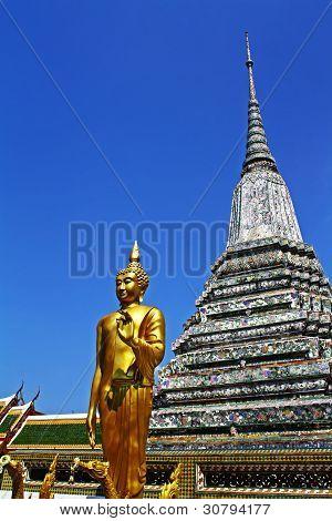 Wat Arun Rajwararam, The temple was originally known as Wat Chaeng, Bangkok, Thailand. poster