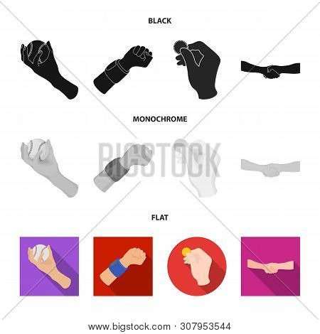 Vector Illustration Of Animated And Thumb Symbol. Set Of Animated And Gesture Vector Icon For Stock.