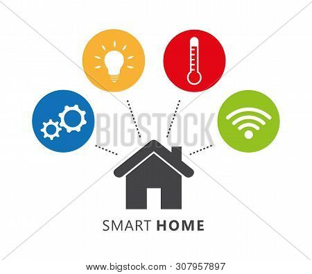 Smart Home Control Concept Infographic With Technology System Vector Illustration Eps10