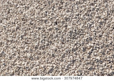 Crushed Stone Background Of Limestone Rocks. Road Gravel. Natural Gravel Texture, Gravel Gravel Back