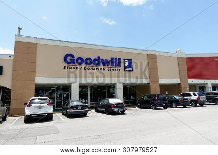 Ft. Pierce,fl/usa-6/23/19: The Exterior View Of A Goodwill Store.  Goodwill Industries International