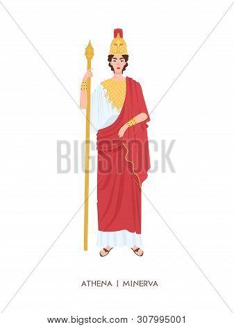 Athene Or Minerva - Ancient Greek Or Roman Goddess Associated With Wisdom, Handicraft And Warfare. Y