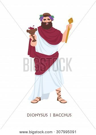 Dionysus Or Bacchus - God Or Deity Of Wine, Winemaking And Fertility In Ancient Greek And Roman Reli
