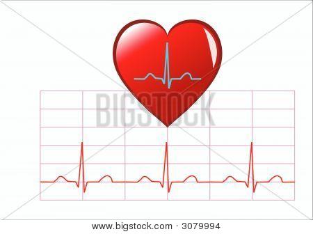 Ilustración de corazón sano