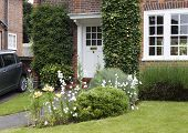 Semi-detached period house and garden in a London suburb poster