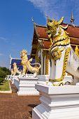 Ubosot in Wat Banden , Chiangmai Thailand poster