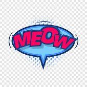 Meow, comic speech bubble icon. Pop art illustration of Meow, comic speech bubble vector icon for web poster