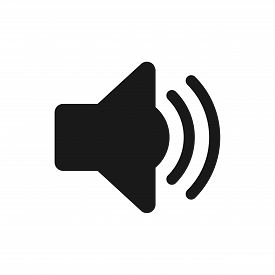 Sound Icon. Sound Icon Vector. Flat Style Isolated On White Background. Sound Icon Image. Sound Icon