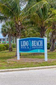 Lido Beach Sign In Sarasota Florida - June 9 2019