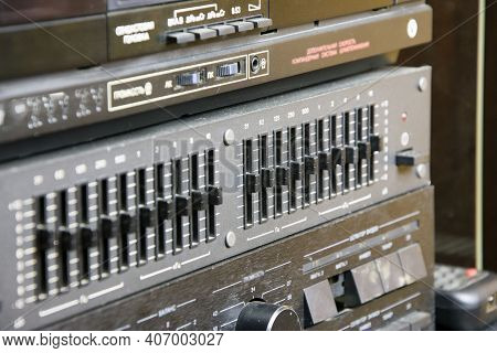 Vintage Stereo Equipment, Equalizer, Amplifier, Tape Recorder, Audio