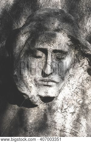 Bas-relief Of Jesus. Vintage Style Photo Of Jesus Christ Statue. Ideal For Events And Concepts.