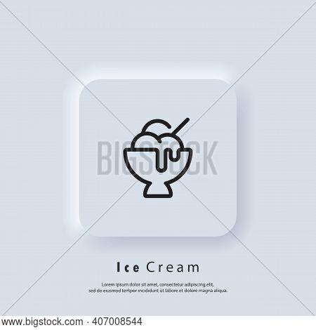 Ice Cream Icon. Ice Cream Logo. Parfait, Frozen Yogurt, Ice Cream Sundae, Vanilla, Chocolate. Vector