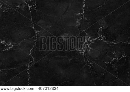 Black Marble Patterned Texture Background. Marble Of Thailand, Abstract Natural Marble Black And Whi