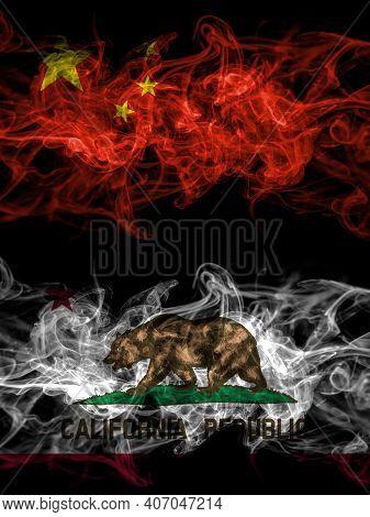 China, Chinese Vs United States Of America, America, Us, Usa, American, California, Californian Smok