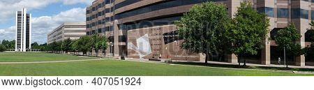 Raleigh,nc/usa - 9-16-2014: View Of Halifax Mall State Government Complex In Downtown Raleigh, Nc, H