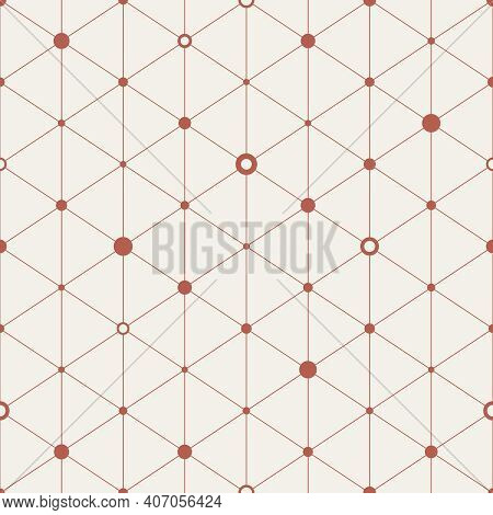 Terra Cotta And Ecru Line Patternpretty Design Elements For Backgrounds With Lines, Triangles And Ci