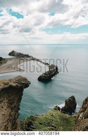 Vertical Photography Of Castle Point From The Castle Rock Lookout. New Zealand.