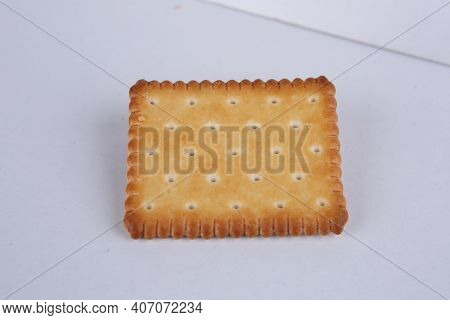 Biscuit On White Background / Light And Healthy Biscuits