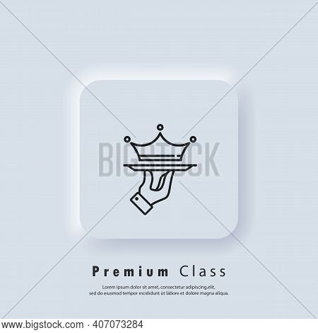 Vip Logo. Premium Service Icon. Vip Business Service. Crown On A Tray. Premium Class Offer. Vip Rest