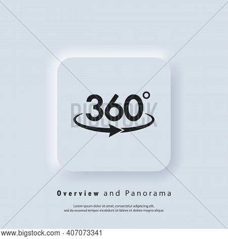 360 Degree Camera Logo. Panorama Picture 360 Degree. Camera, Photo Icon. Virtual Reality. Front Came