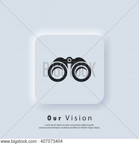 Overview Icon. Our Vision And Mission Logo. Binocular Icon. Zoom Icons. Business Goal Concept. Vecto