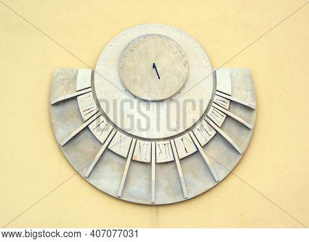 Sundial in Rovinj, Croatia, Europe