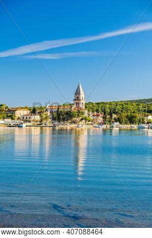 Old Town Of Osor Between Islands Cres And Losinj On Adriatic Sea In Croatia