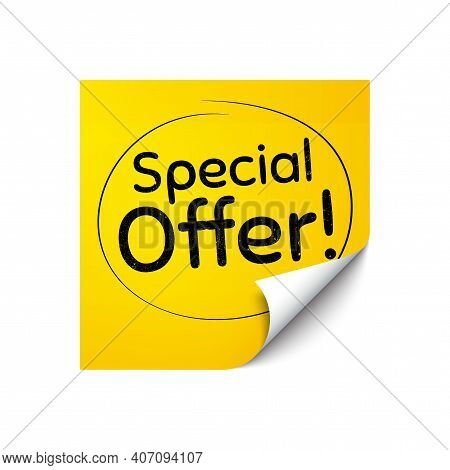 Special Offer Symbol. Sticker Note With Offer Message. Sale Sign. Advertising Discounts Symbol. Yell