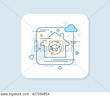 Continuing Education Line Icon. Abstract Vector Button. Online Education Sign. Continuing Education