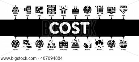 Cost Reduction Sale Minimal Infographic Web Banner Vector. Winter And Summer Seasonal Cost Reduction
