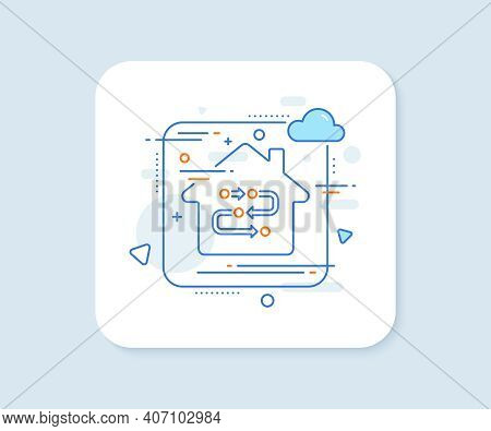 Methodology Line Icon. Abstract Vector Button. Development Process Sign. Strategy Symbol. Methodolog