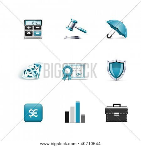 Finance icons. poster