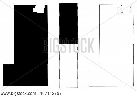 Albany And Campbell County, State Of Wyoming (u.s. County, United States Of America, Us) Map Vector