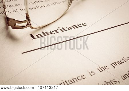 Legal Inheritance Word On The Page About Last Will.