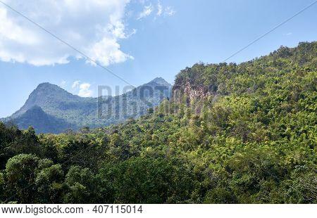 Northern Thailand Landscape. Mountains  Doi Luang Chiang Dao In Chiang Mai Province. Chiang Dao Nati