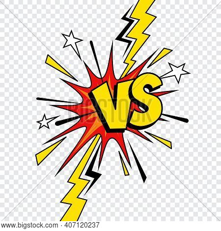 Comic Vs Or Versus Vector Design Of Comics Book Battle, Superhero Fight And Sport Game Competition.