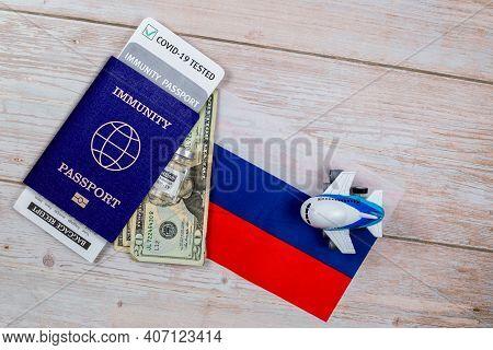 Travel Immunity Passport Mandatory Covid Test. New Normal After Covid-19 Pandemic Coronavirus Test I