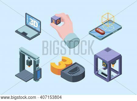 3d Printing Technology. Electronic Smart Robots Volumetric Prints Future 3d Technologies Easy Engine