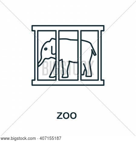 Zoo Icon. Simple Element From Amusement Park Collection. Creative Zoo Icon For Web Design, Templates