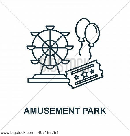 Amusement Park Icon. Monochrome Simple Amusement Park Icon For Templates, Web Design And Infographic
