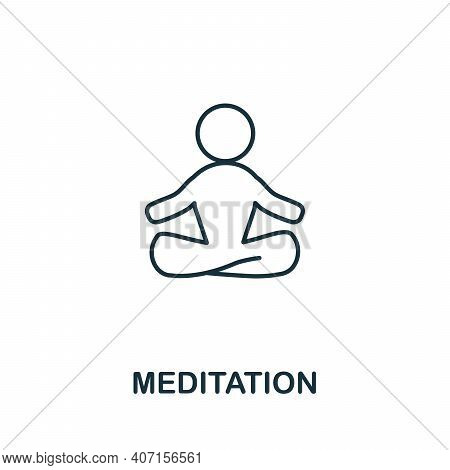 Meditation Icon. Simple Illustration From Biohacking Collection. Creative Meditation Icon For Web De