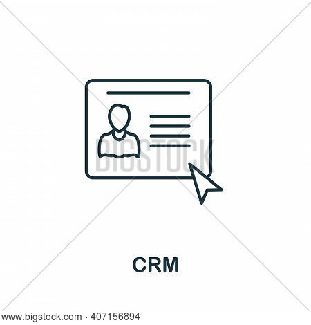 Crm Icon. Simple Element From Business Intelligence Collection. Creative Crm Icon For Web Design, Te