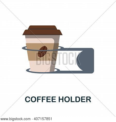 Coffee Holder Flat Icon. Color Simple Element From Coffee Collection. Creative Coffee Holder Icon Fo