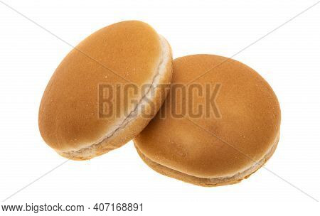 Fastfood Cheeseburger Buns Isolated On White Background