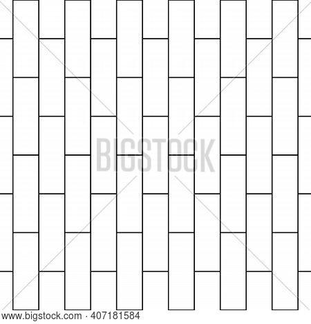 Seamless Brickwall Pattern. Bricks Cladding Wall. Walling Wallpaper. Geometric Ornament. Mosaic Moti
