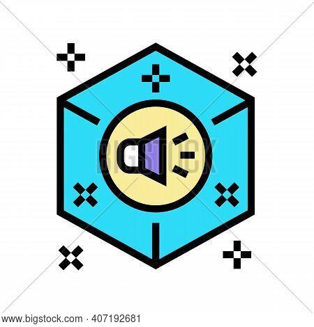 Surround Sound Color Icon Vector. Surround Sound Sign. Isolated Symbol Illustration
