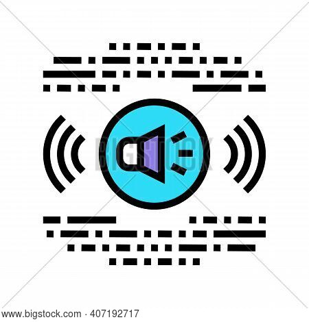 Stereo Music Color Icon Vector. Stereo Music Sign. Isolated Symbol Illustration