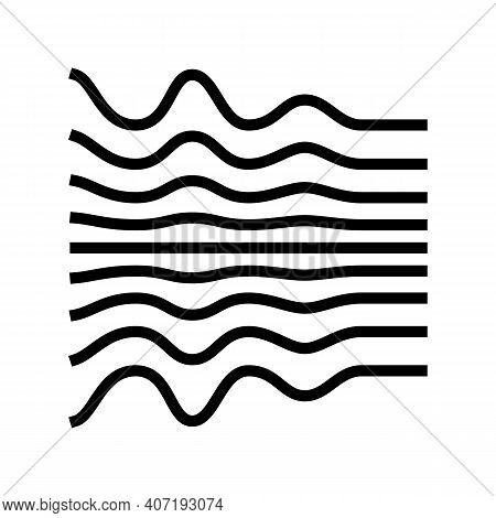 Noise Waves Color Icon Vector. Noise Waves Sign. Isolated Symbol Illustration